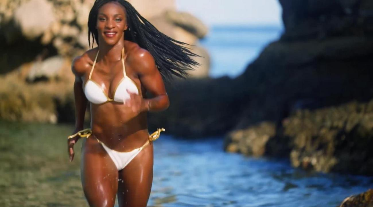 Behind the scenes with Crystal Dunn at her SI Swimsuit photo shoot