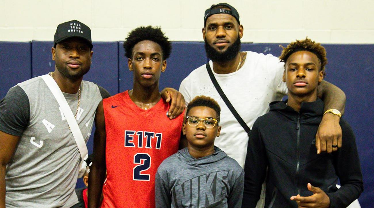 Zaire Wade, LeBron James Jr  Reportedly Forming New Superteam in High School