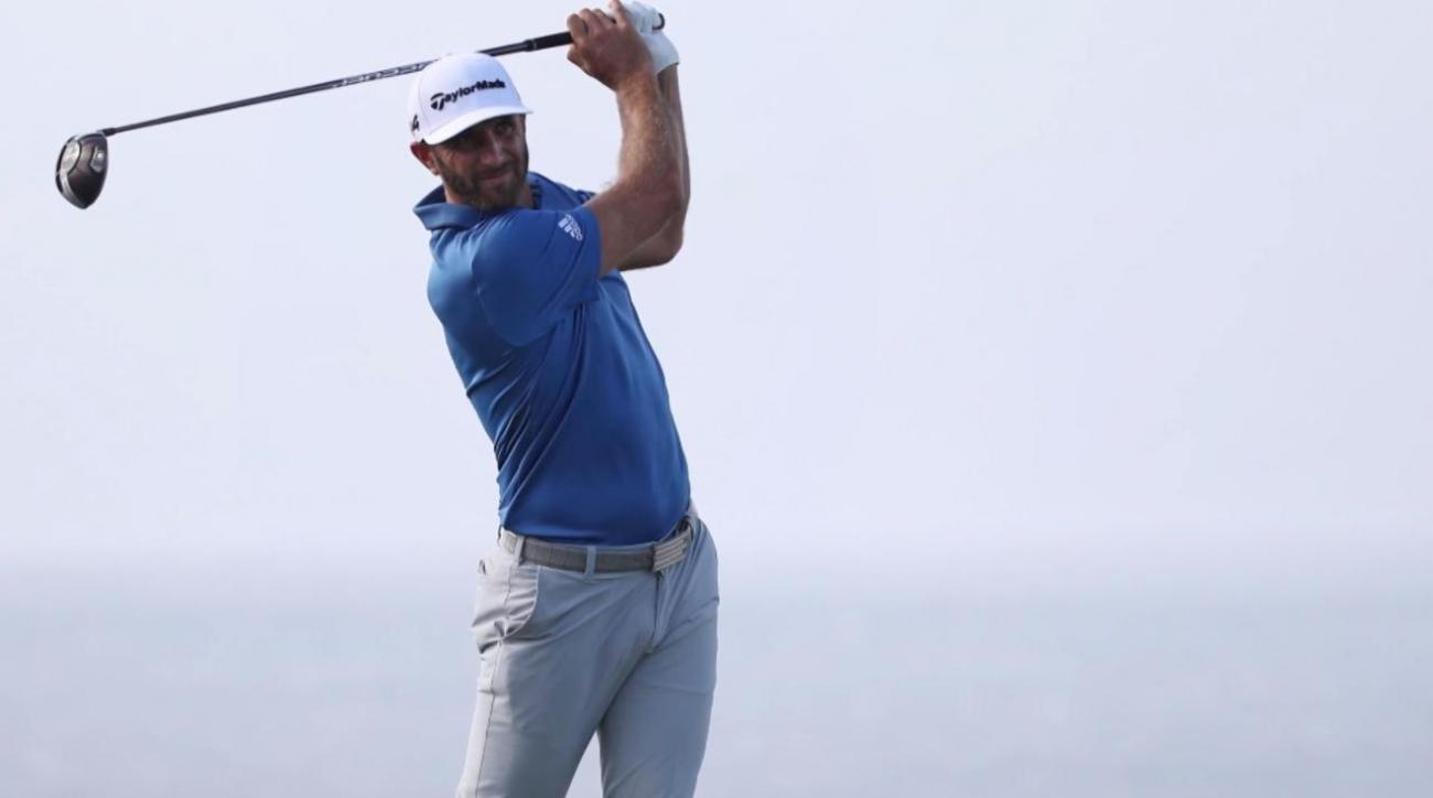Dustin Johnson in Abu Dhabi par-3 contest