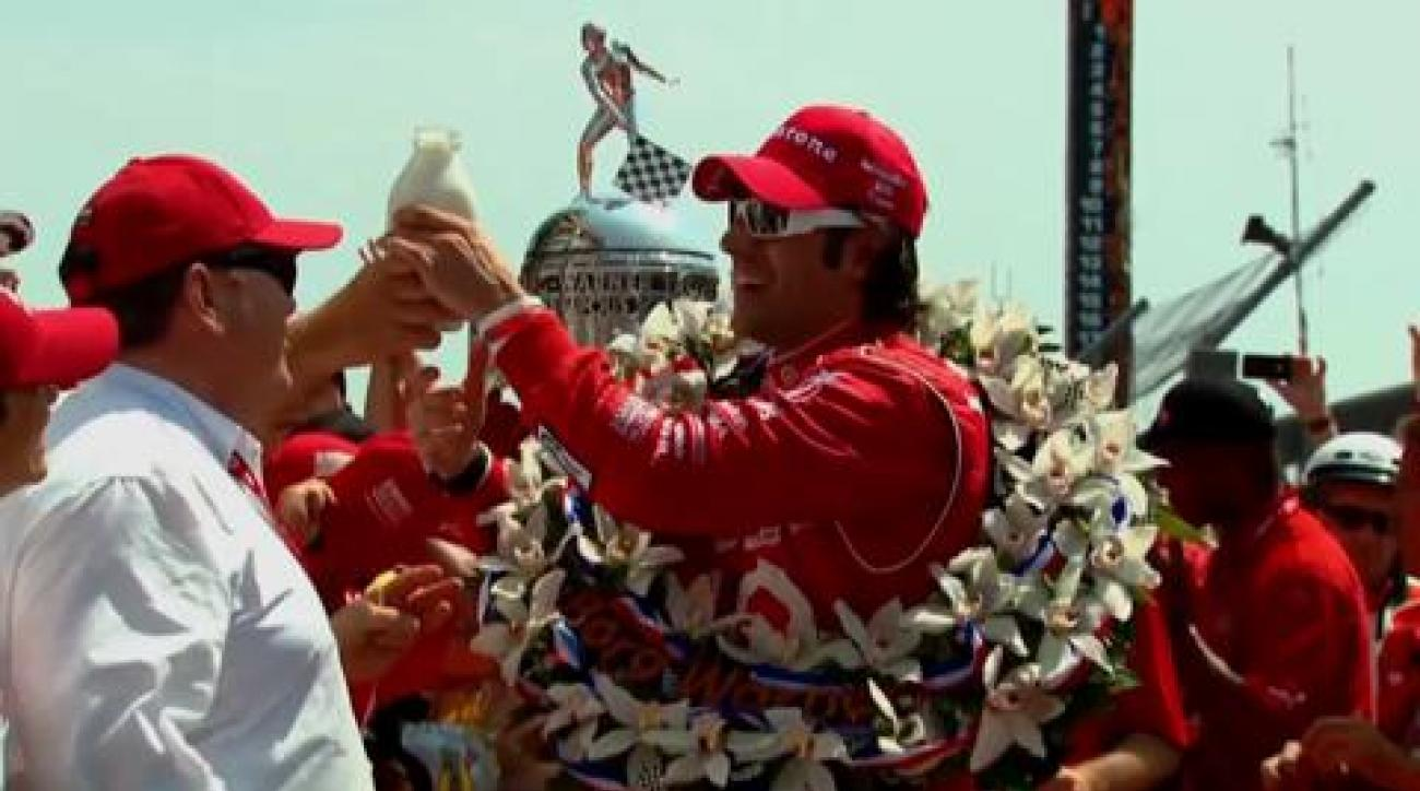 Castroneves, Franchitti on making history at Indy