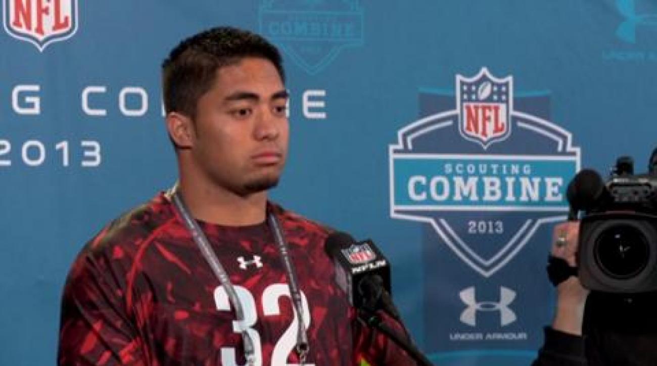 Te'o addresses media at NFL combine