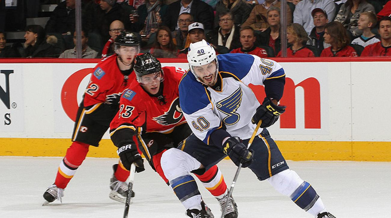 Blues roll over Flames in shutout victory