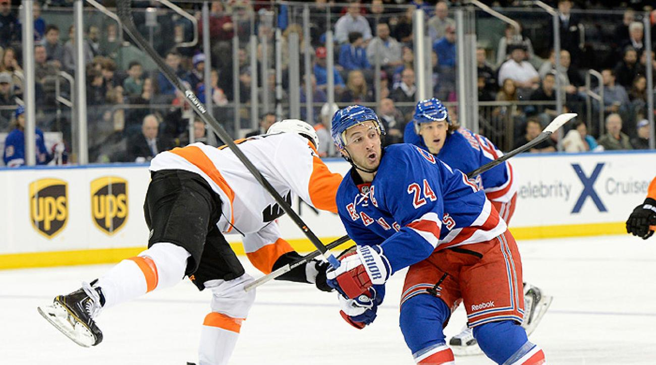 Big first period sees Rangers over Flyers