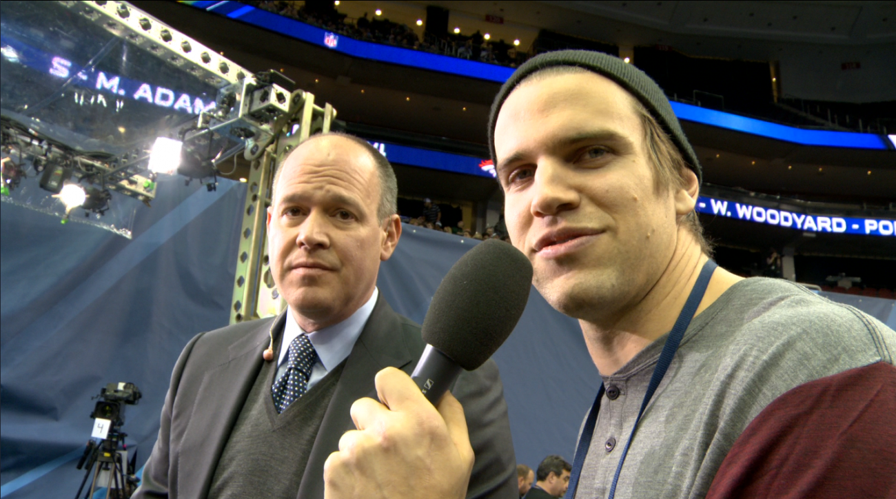 """Coby Fleener's Media Day: """"Where self-respect goes to die"""""""