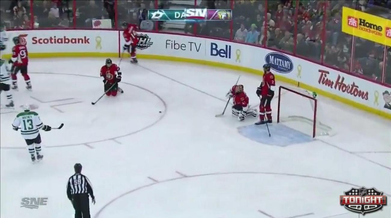 Benn scores in shootout as Stars edge Senators