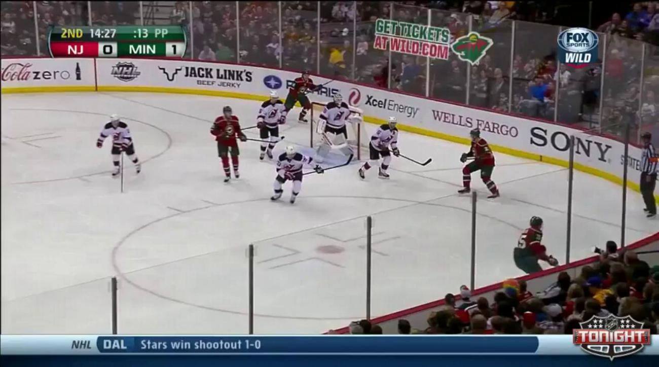 Harding stops 19 as Parise, Wild top Devils 4-0