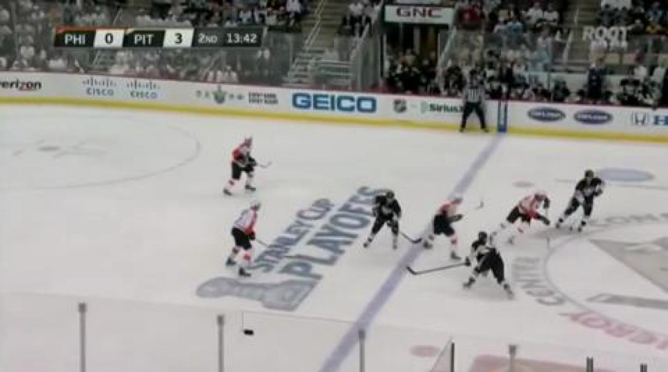 Game 1: Flyers stun Pens in OT