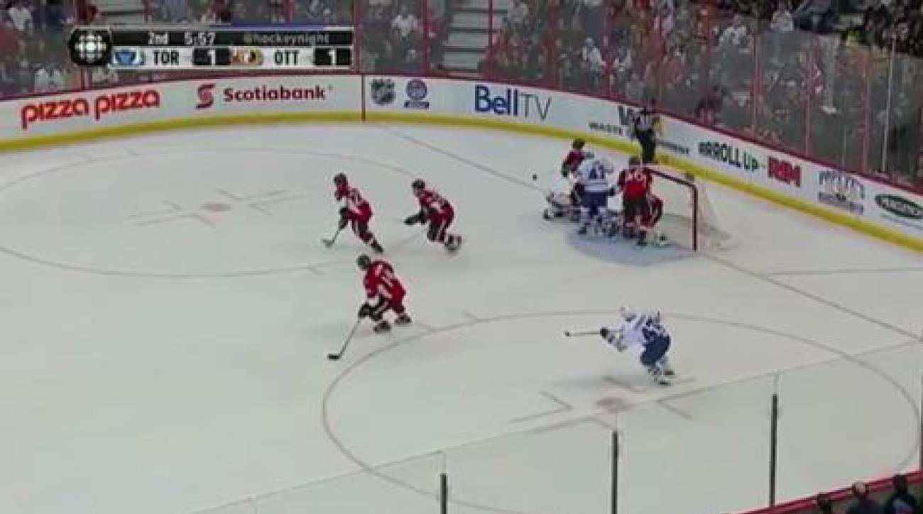 Sens nip Leafs
