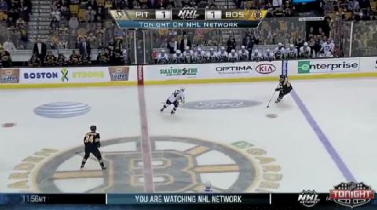 Penguins score twice in third to down Bruins