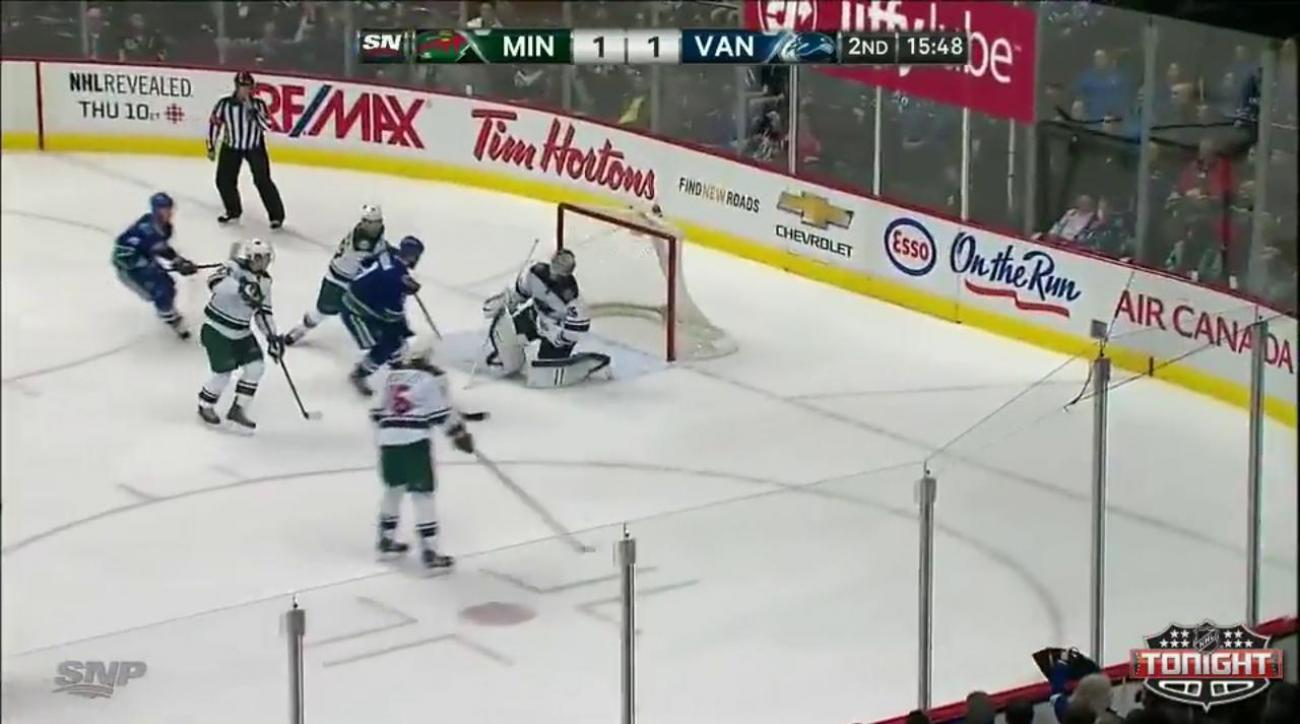 Justin Fontaine scores winning goal in shootout to lift Wild over Canucks