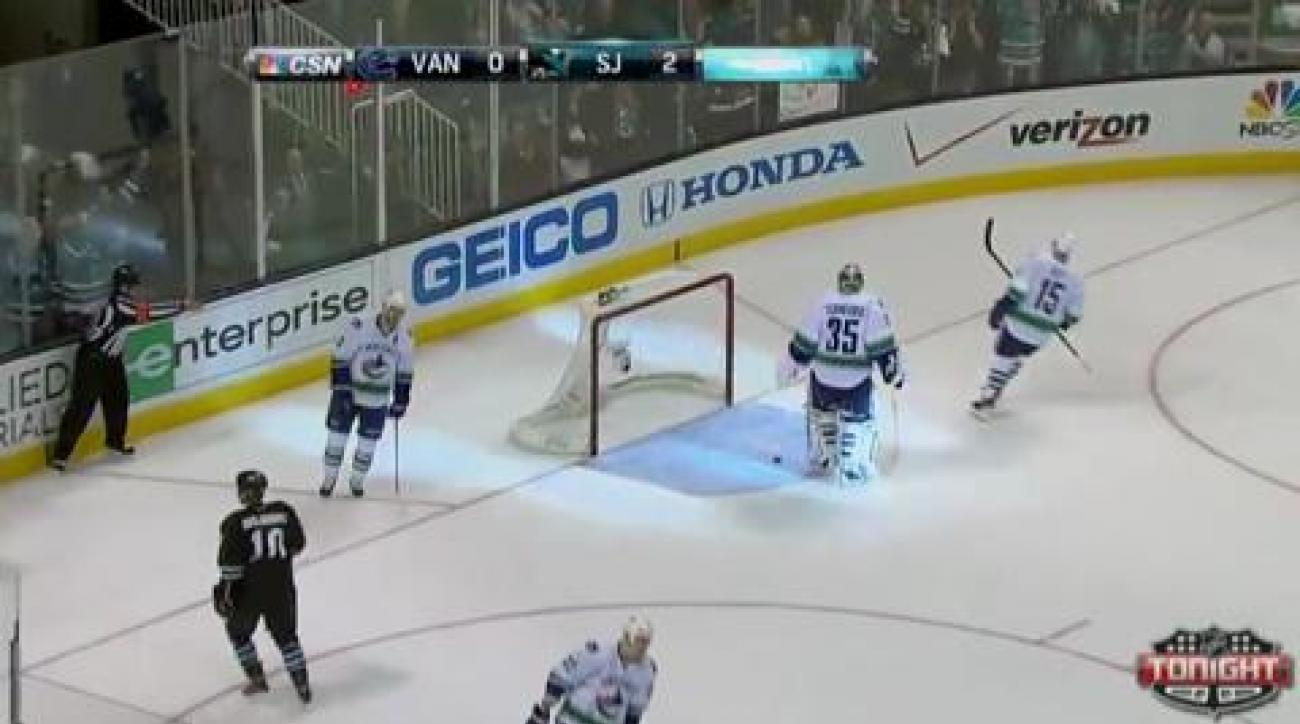 Sharks beat Canucks, sit on verge of series sweep
