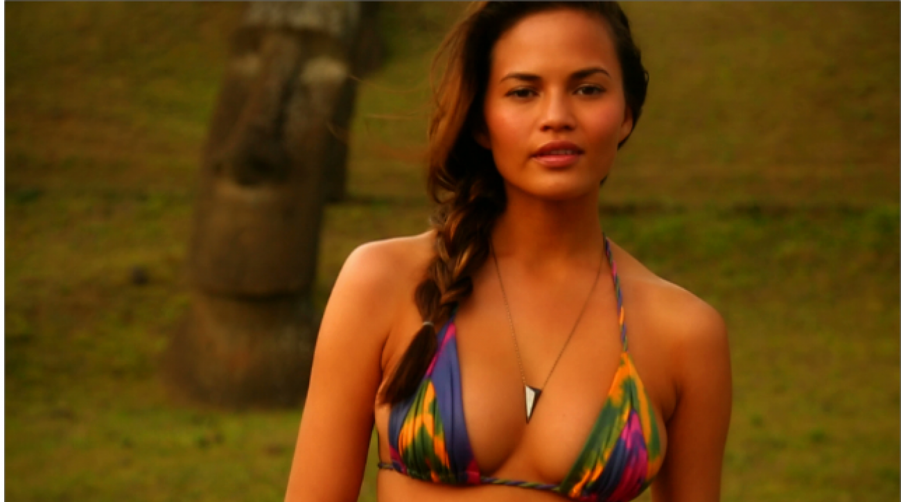 Swim Daily, Chrissy Teigen Profile