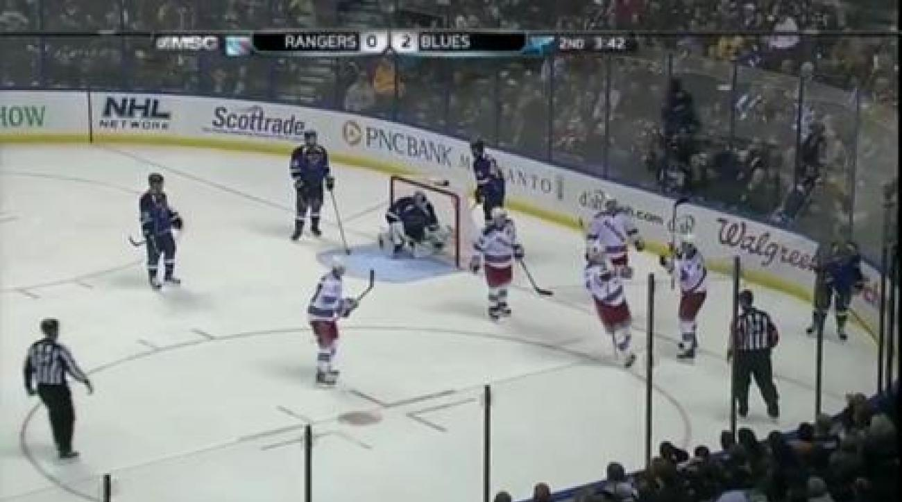 Blues slam Rangers