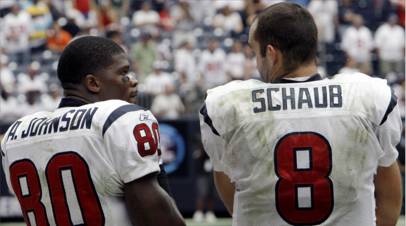 Johnson-Schaub sideline argument highlights Texans' woes