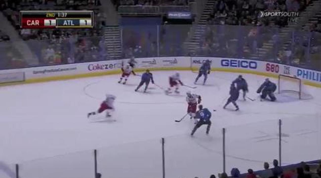 Cole gives Hurricanes 3-2 win over Thrashers
