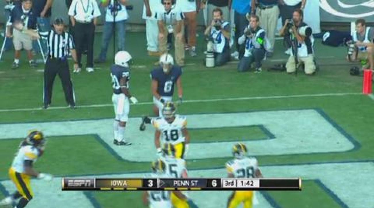 Penn State routs Iowa 13-3