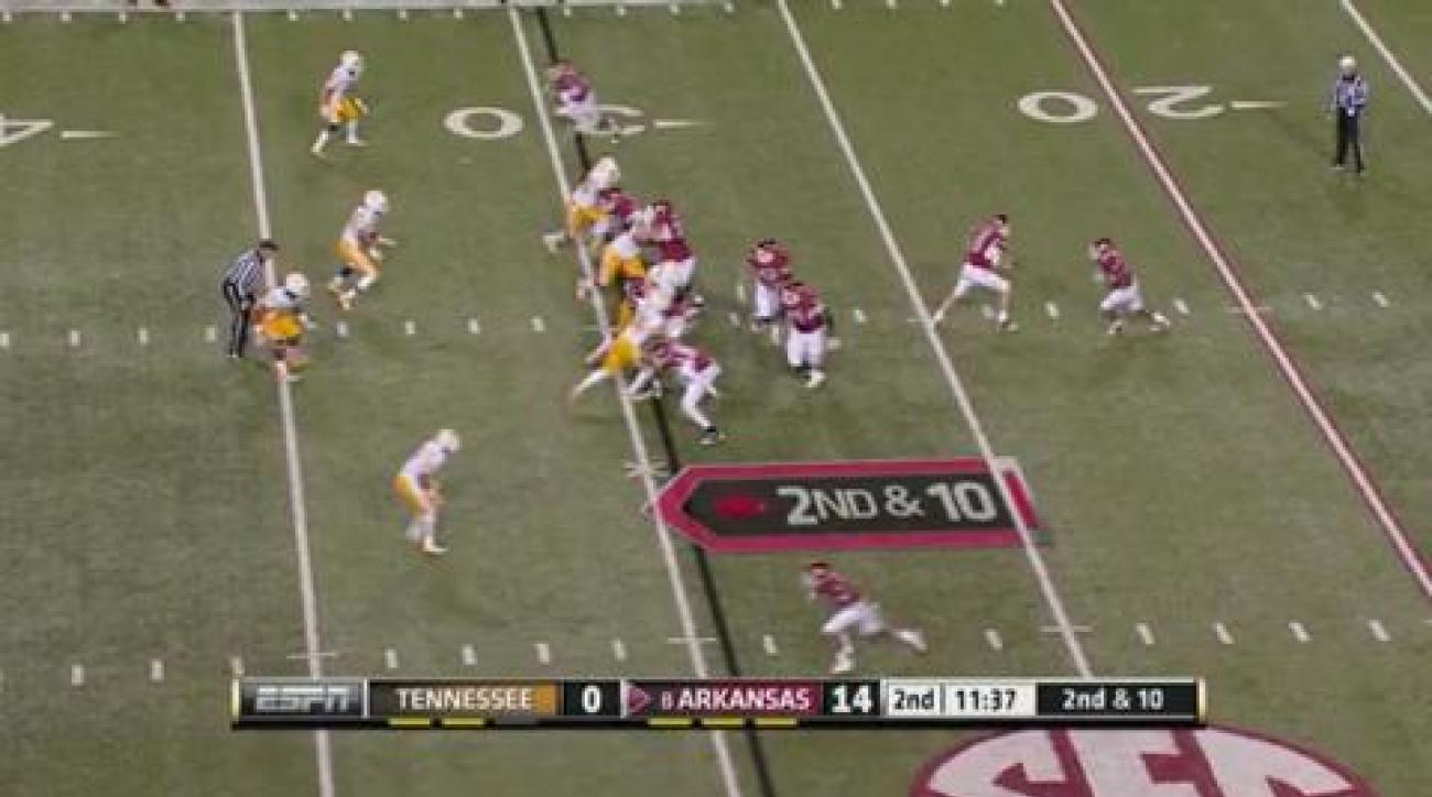 Wilson, No. 8 Arkansas thumps Tennessee 49-7