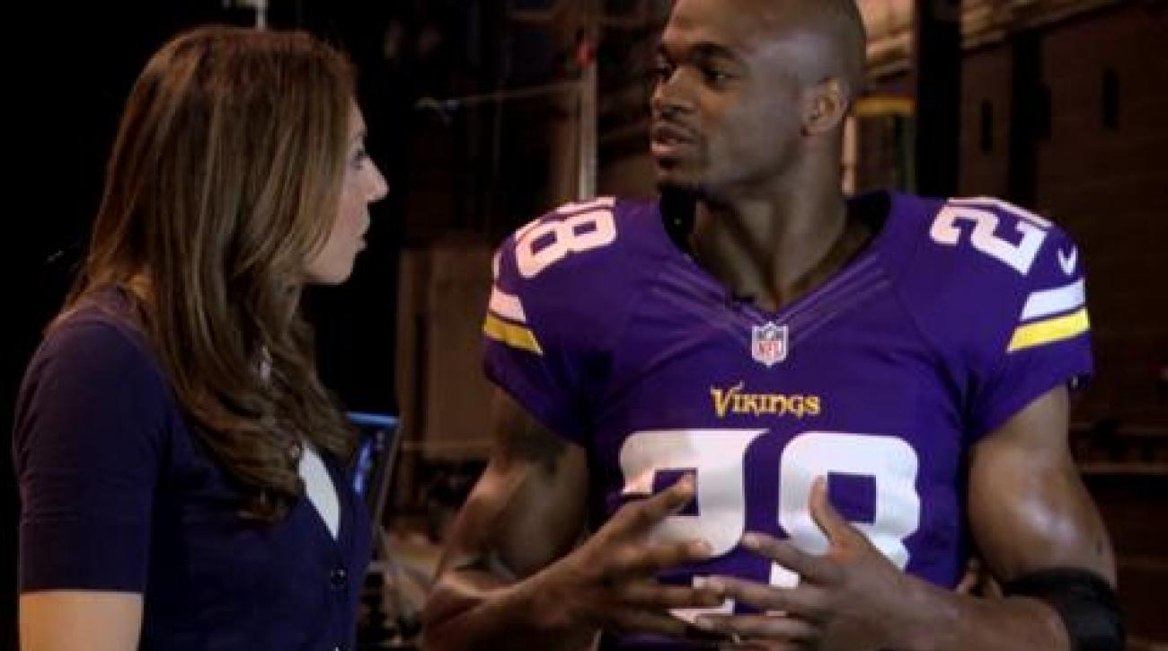 Adrian Peterson: Bar set for 2,500 yds