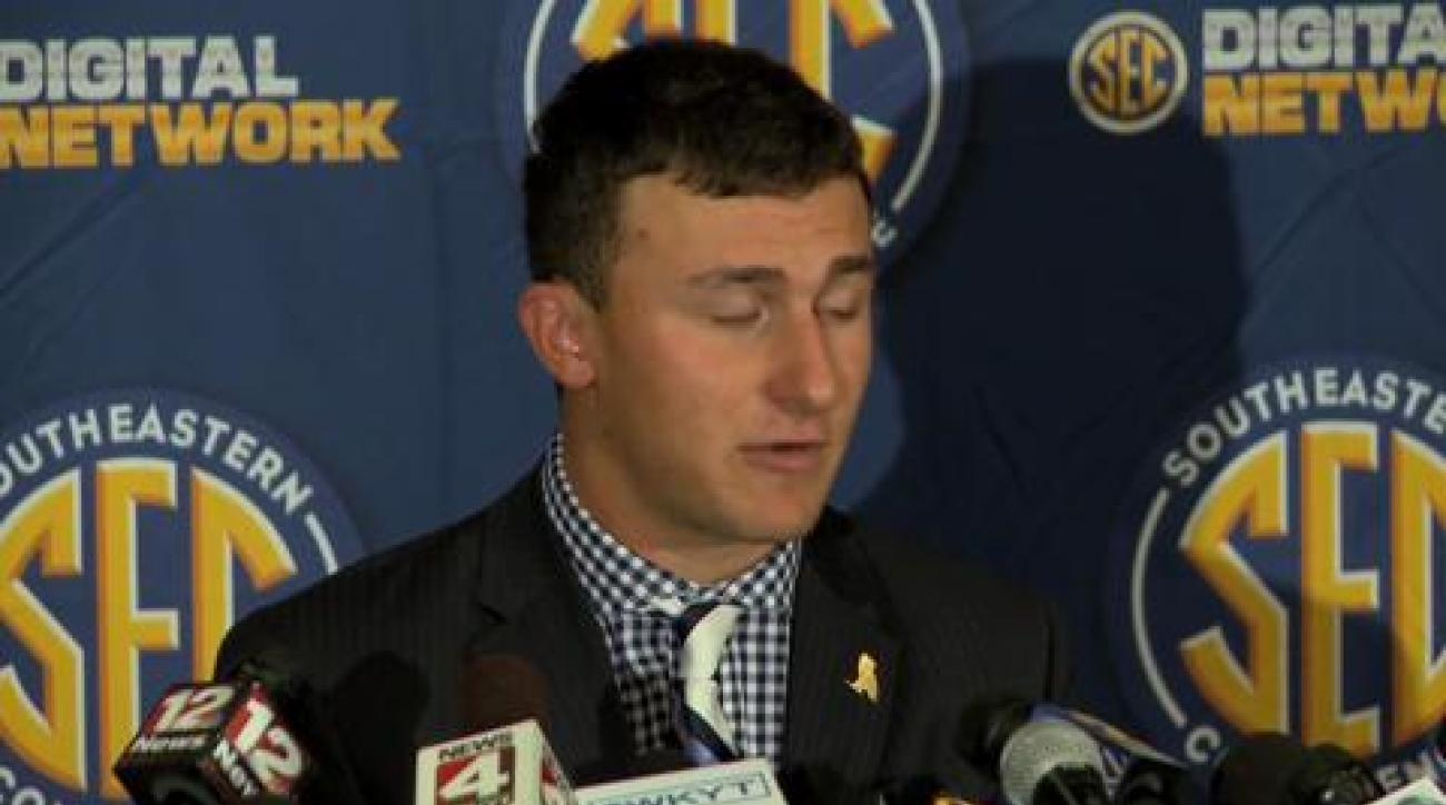 Manziel sounds off at SEC Media Day