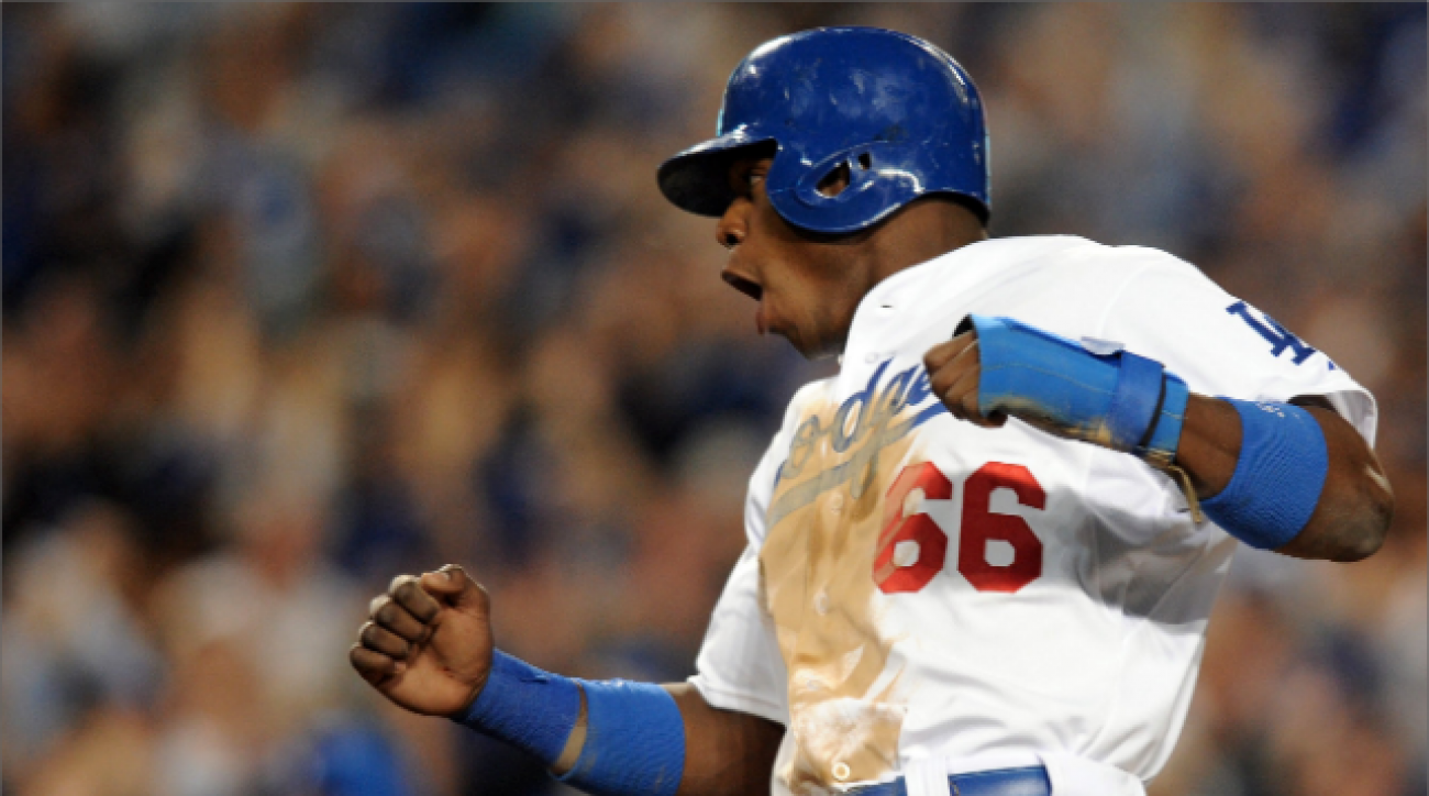 Who are Dodgers looking to play in NLCS?