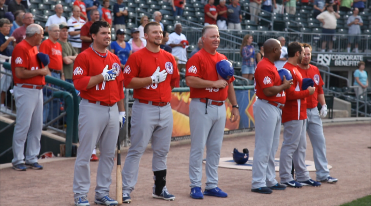 A Broadway star surprises baseball fans with two more verses of the National Anthem