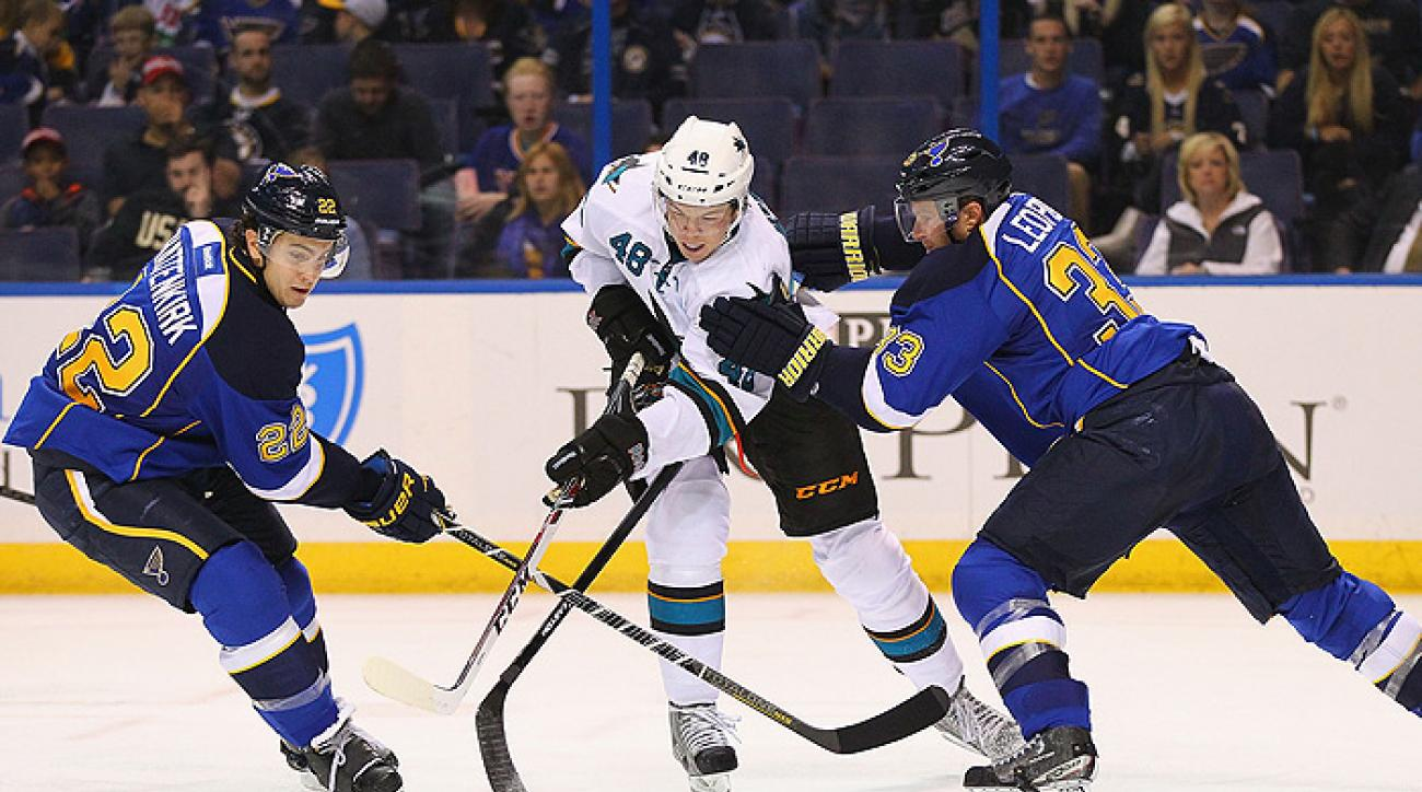 Sharks stay perfect in handing Blues first defeat