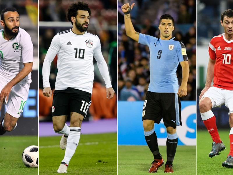 Uruguay, Saudi Arabia, Egypt and Russia are in World Cup Group A