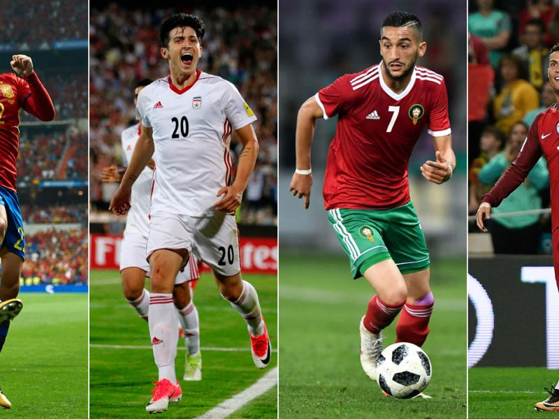 Spain, Iran, Morocco and Portugal play in World Cup Group B