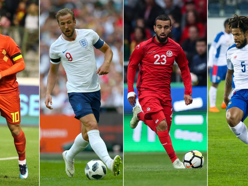 Belgium, England, Tunisia and Panama play in the World Cup's Group G