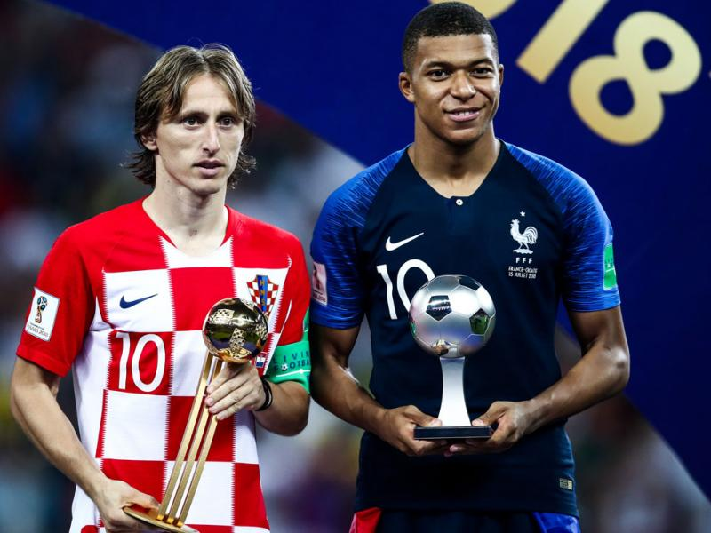 Kylian Mbappe and Luka Modric were among the 2018 World Cup's top performers.