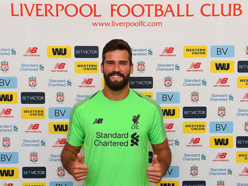 Liverpool, Brazil goalkeeper Alisson Becker, Roma