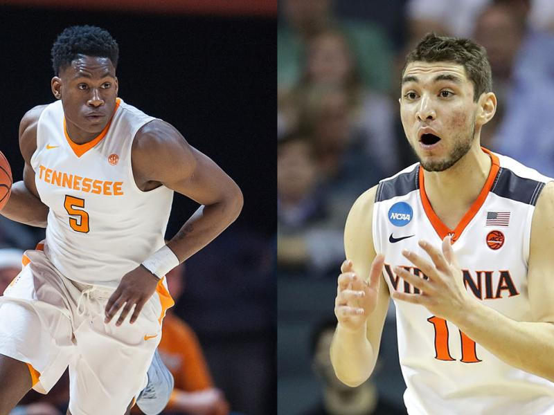 Tennessee's Admiral Schofield and Virginia's Ty Jerome