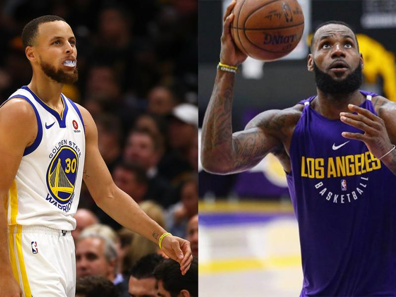 Warriors guard Steph Curry and Lakers forward LeBron James