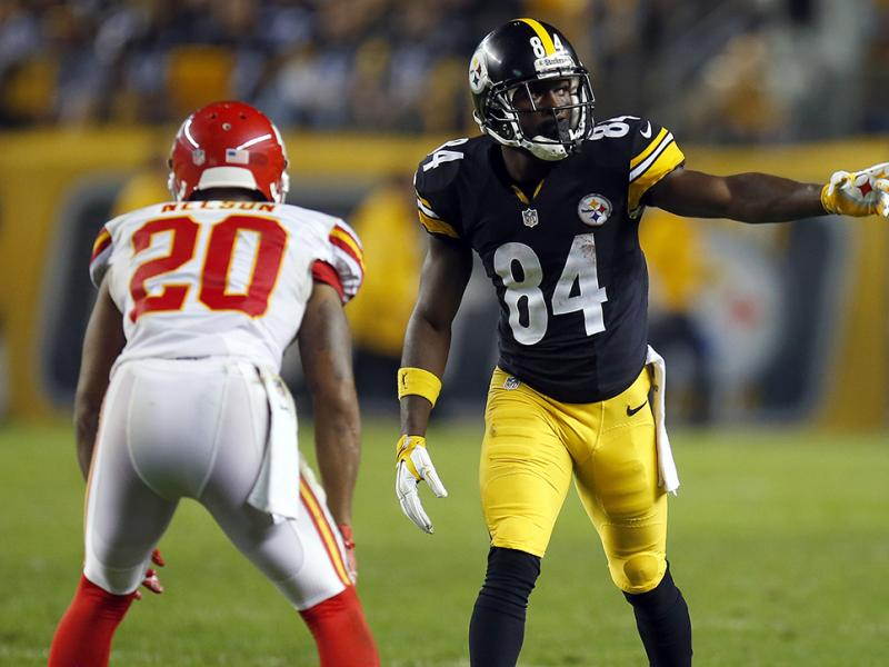 Steelers WR Antonio Brown and Chiefs CB Steven Nelson