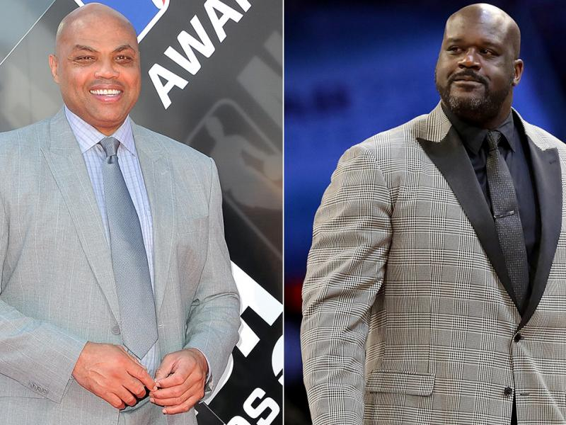 Charles Barkley and Shaquille O'Neal