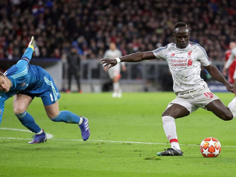 Sadio Mane scores for Liverpool vs. Bayern Munich in Champions League