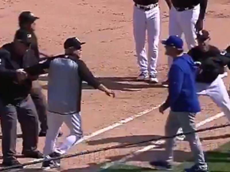 Wondrous Royals White Sox Managers Nearly Fight After Tim Anderson Onthecornerstone Fun Painted Chair Ideas Images Onthecornerstoneorg