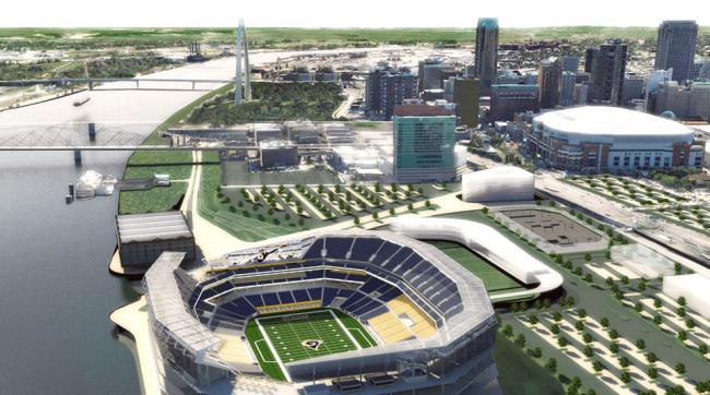 New NFL stadium in St. Louis, Los Angeles for Rams, Raiders ...
