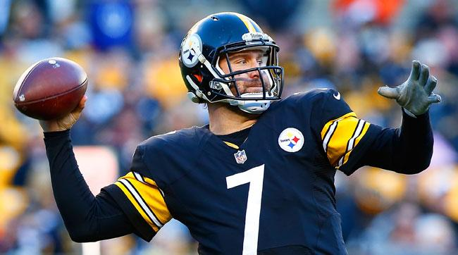 Ben Roethlisberger leads the NFL with 332 passing yards per game.