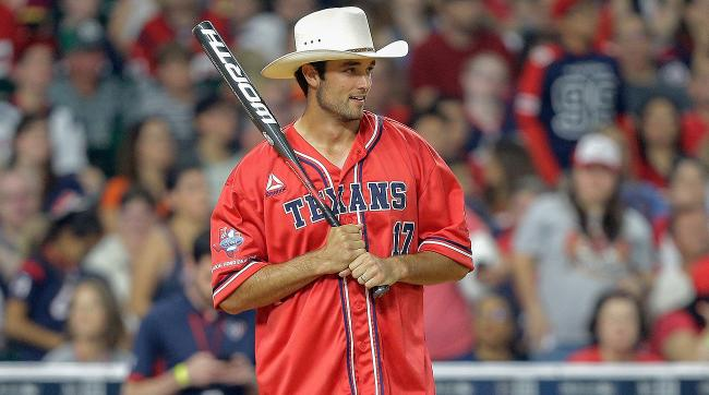 New Texans quarterback Brock Osweiler was a big hit at J.J. Watt's charity softball game in Houston earlier this month.