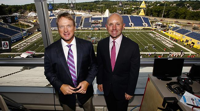 McDonough joins Jon Gruden in the Monday Night Football booth.
