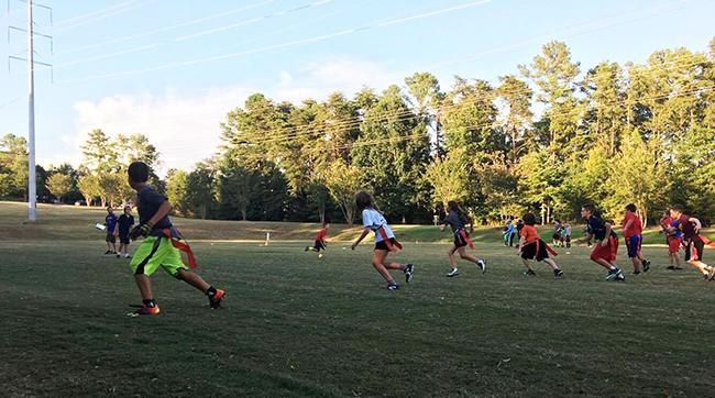 Flag football is the only youth football in Tega Cay, S.C.