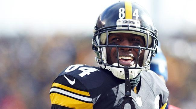 Pittsburgh Steelers wideout Antonio Brown.