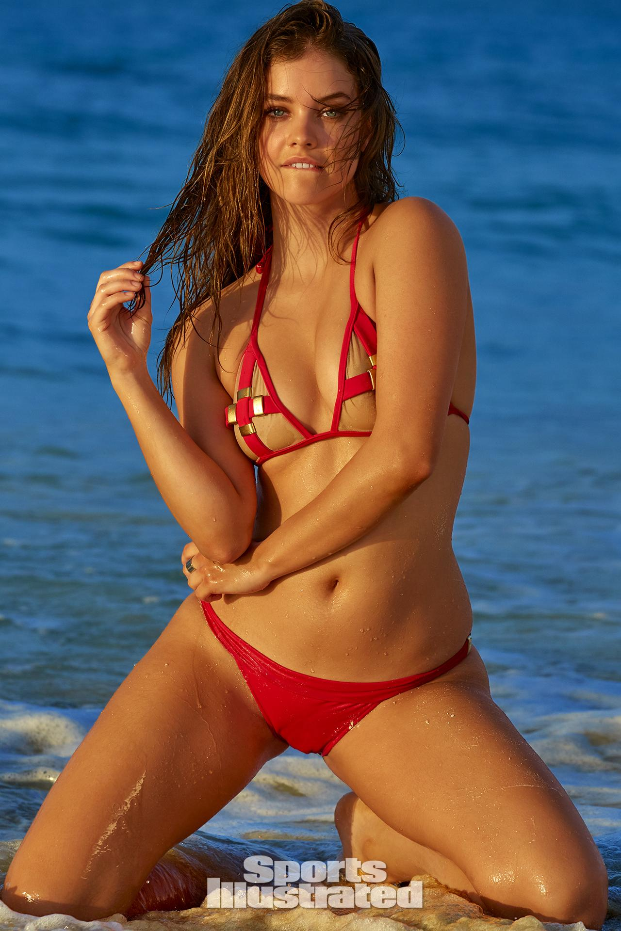 Barbara Palvin was photographed by James Macari in Turks & Caicos. Swimsuit by Elizabeth Southwood For Sauvage Swimwear.