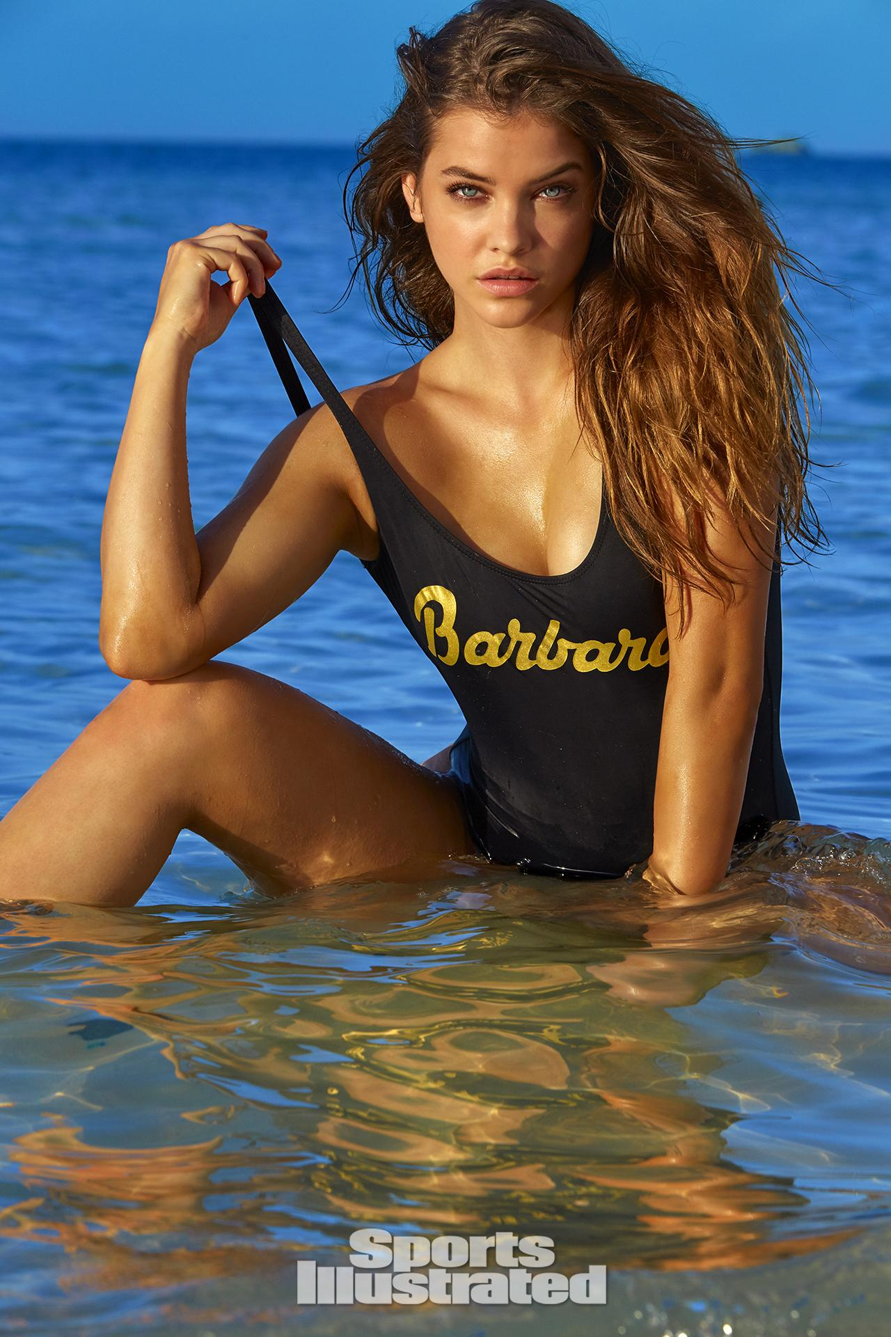 Barbara Palvin was photographed by James Macari in Turks & Caicos. Swimsuit by Bruna Malcuelli.