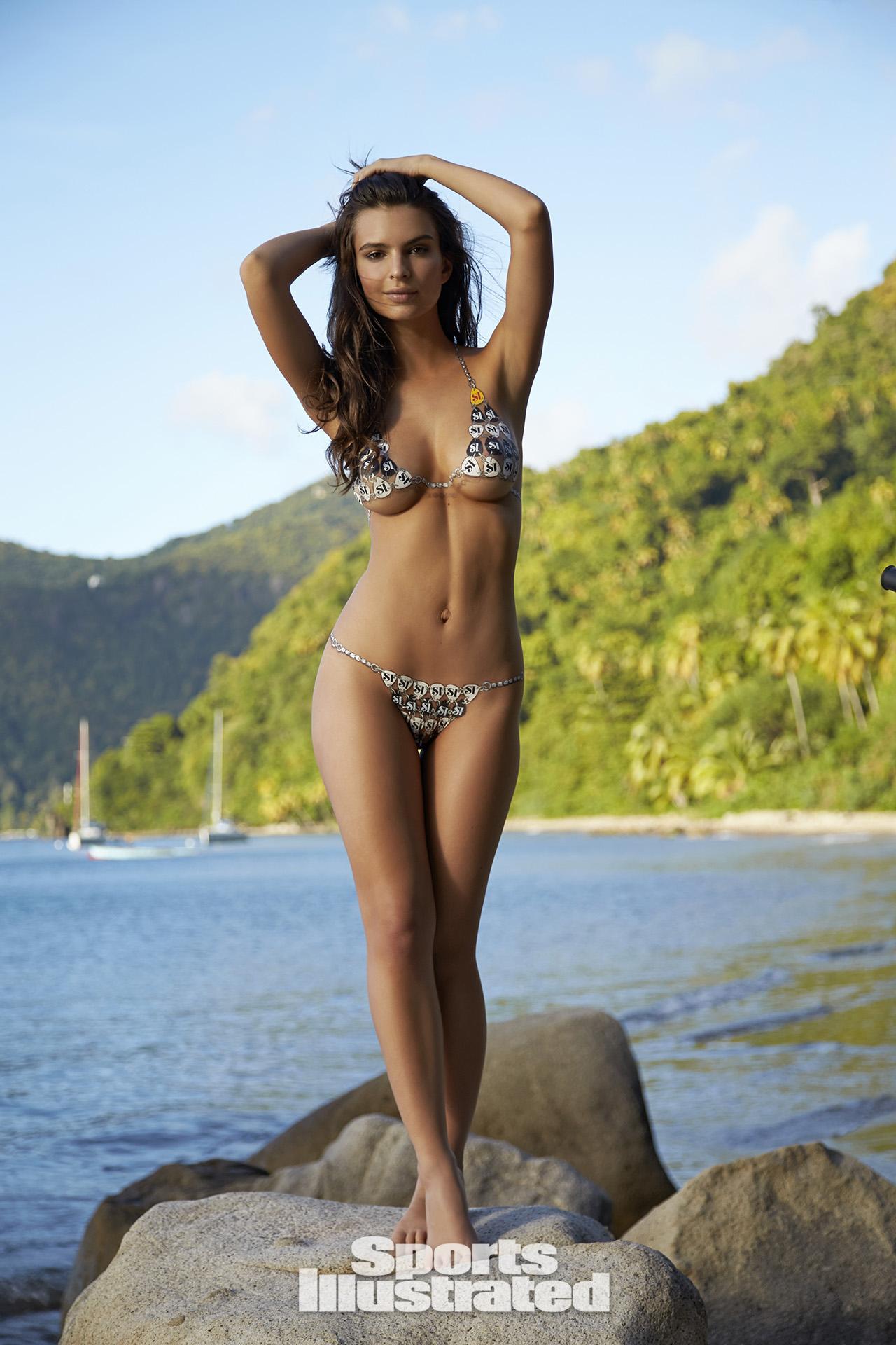 Emily Ratajkowski Swimsuit Body Paint Photos Sports Illustrated
