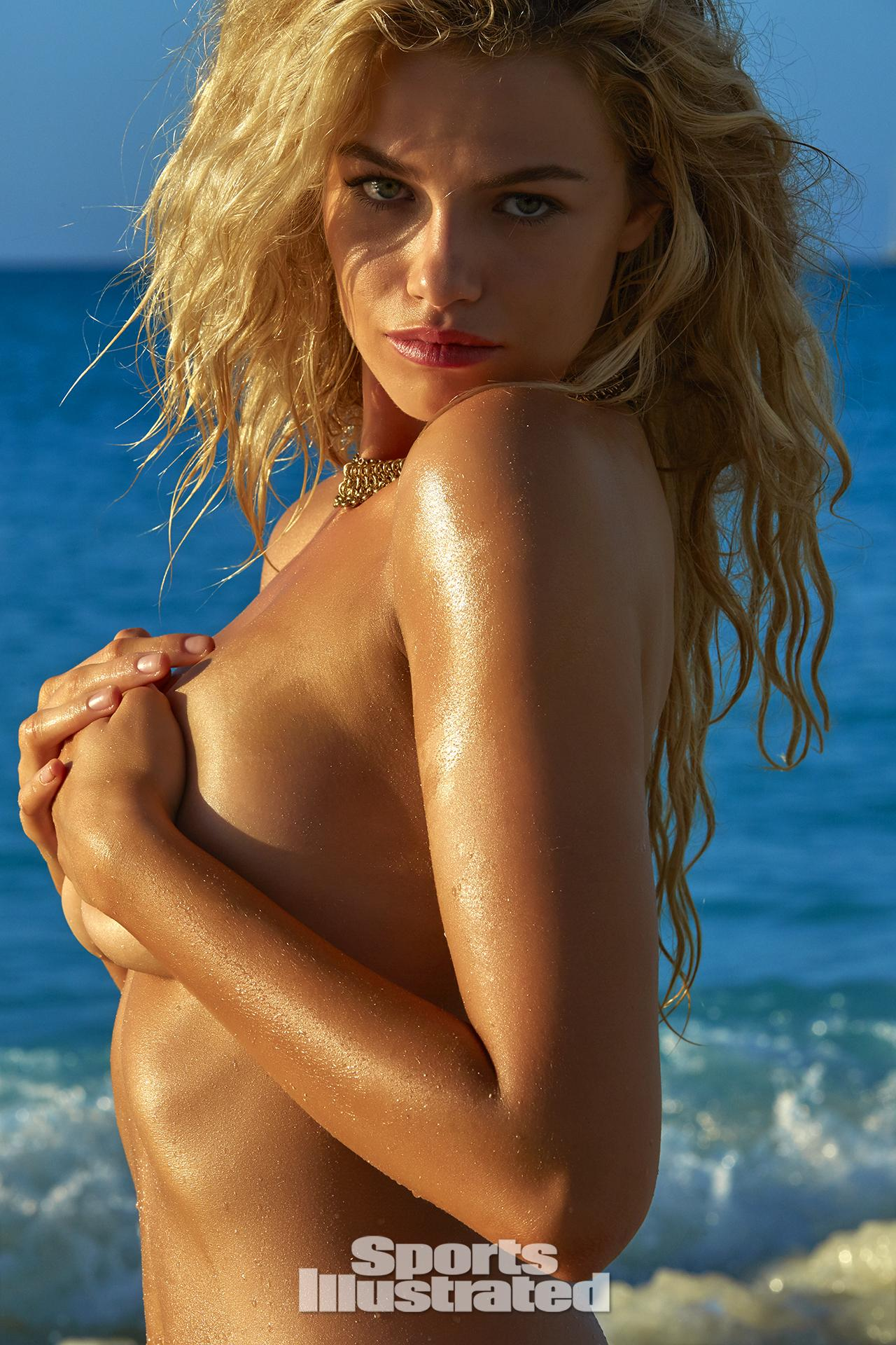 Hailey Clauson was photographed by James Macari in Turks & Caicos.