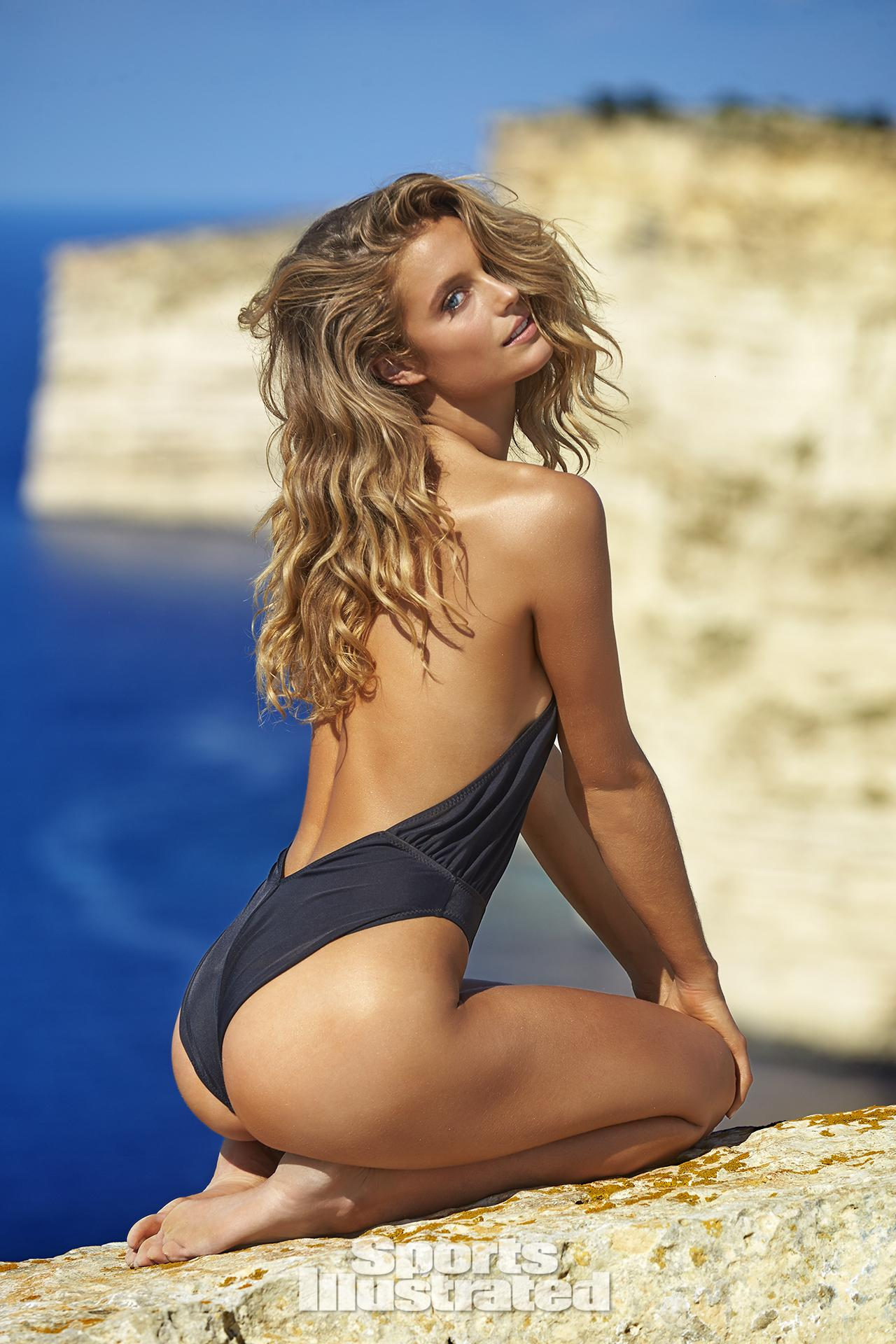 Kate Bock was photographed by Ben Watts in Malta. Swimsuit by Norma Kamali.