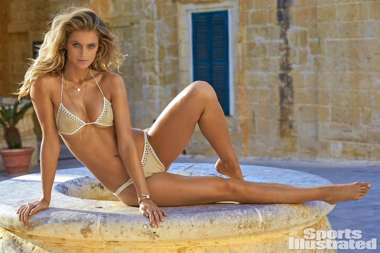 Kate Bock was photographed by Ben Watts in Malta. Swimsuit by Susan ...
