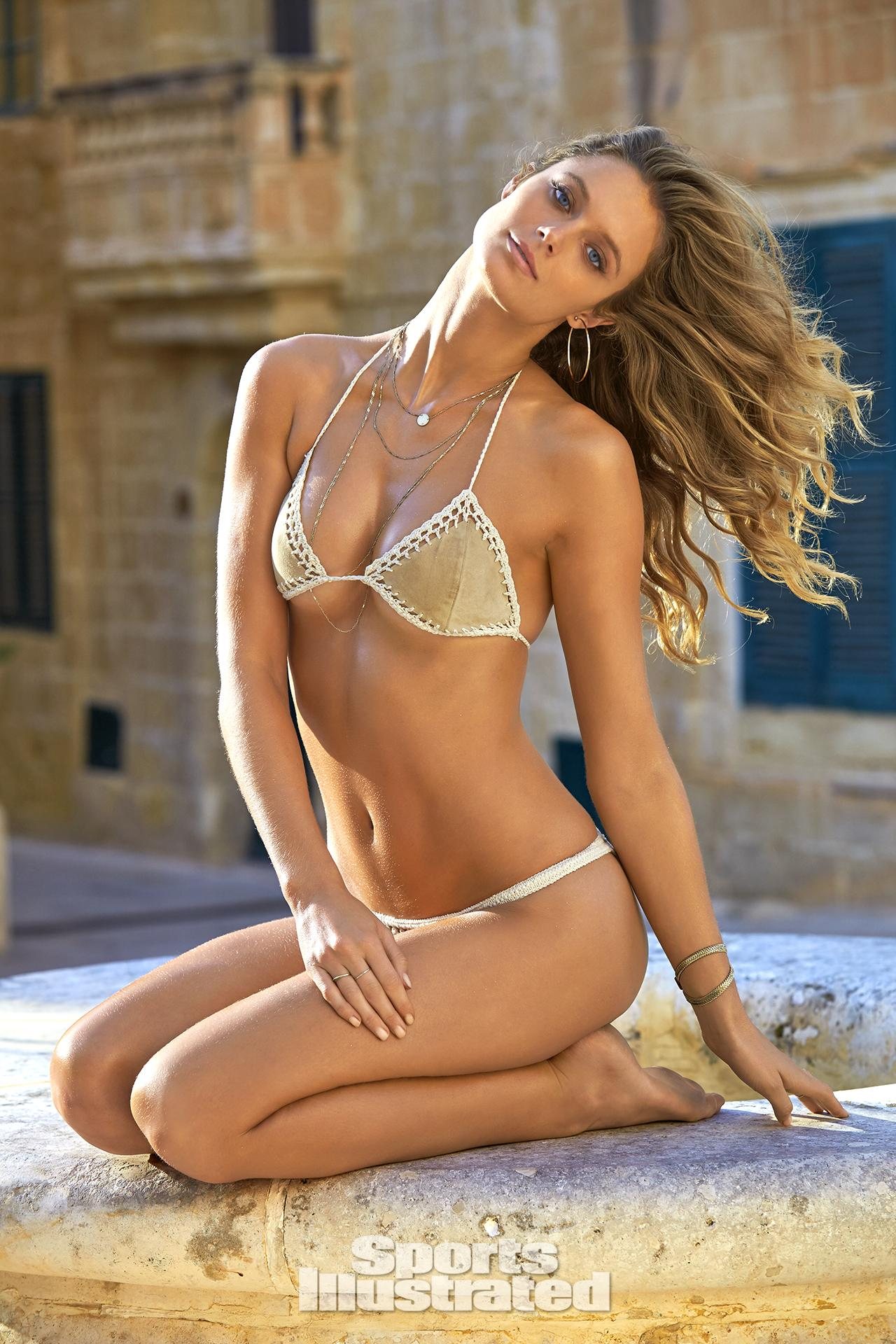 Kate Bock was photographed by Ben Watts in Malta. Swimsuit by Susan Holmes Swimwear.